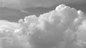 Puffy clouds BW